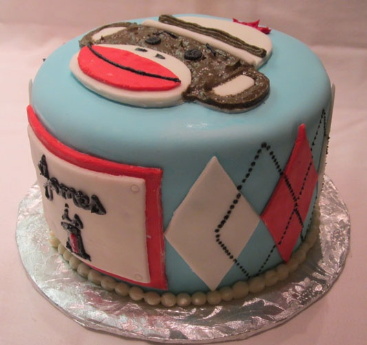 Sock Monkey Cake Party Ideas Pinterest