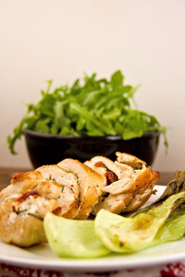 Arugula and Goat Cheese Stuffed Chicken | Chicken, Boneless | Pintere ...