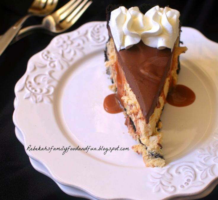 ... , Food, and Fun: Salted Caramel Cheesecake with Chocolate Ganache