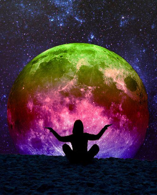 Rainbow moon.