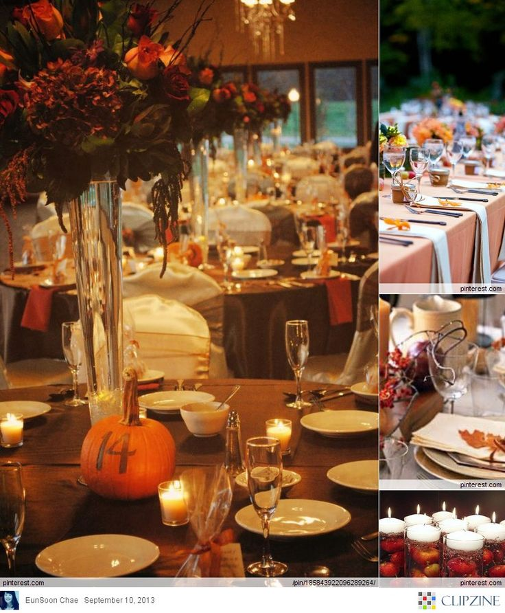 Fall Wedding Tablescape Idea Wedding Collages Pinterest
