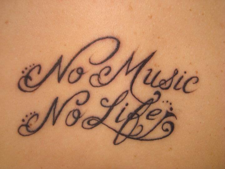 No Music No Life Tattoos Pinterest