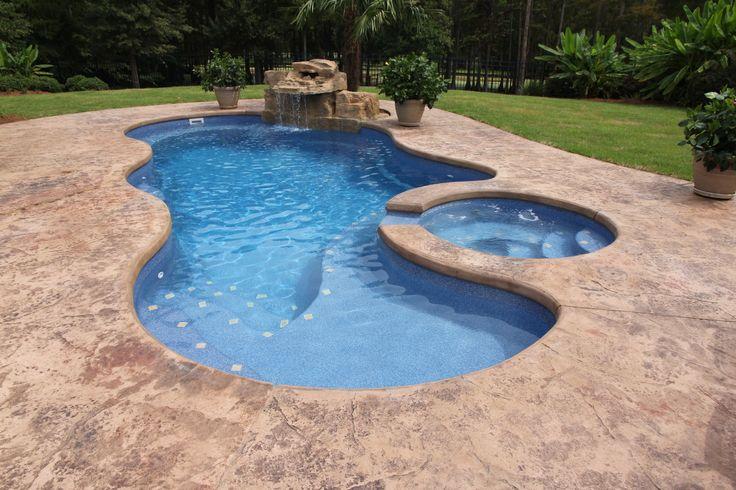 Saltwater Fiber Glass Pool New House Interior Design Pinterest