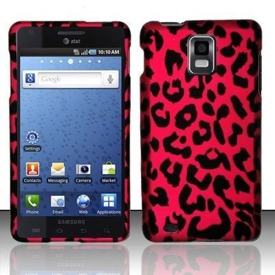 Rubberized pink leopard design phone case for the samsung infuse 4g by