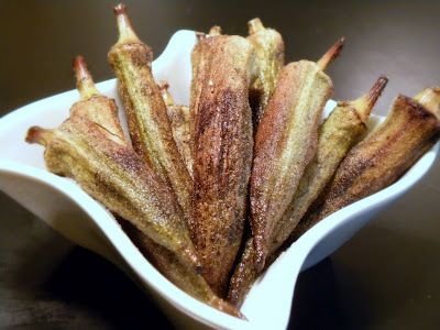 Roasted Okra – Better than French Fries.. might have to try this.