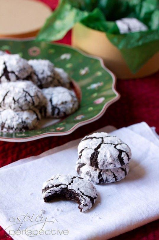 Mexican Mocha Crinkle Cookies   December (Make it Merry)   Pinterest