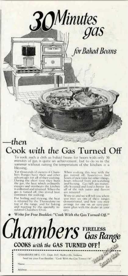 Chambers Fireless Gas Range Shelbyville In (1924)