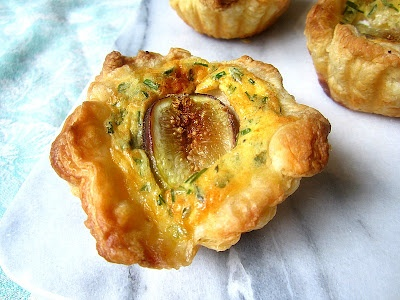 Fig & Goat Cheese Tartelettes Recipe — Dishmaps