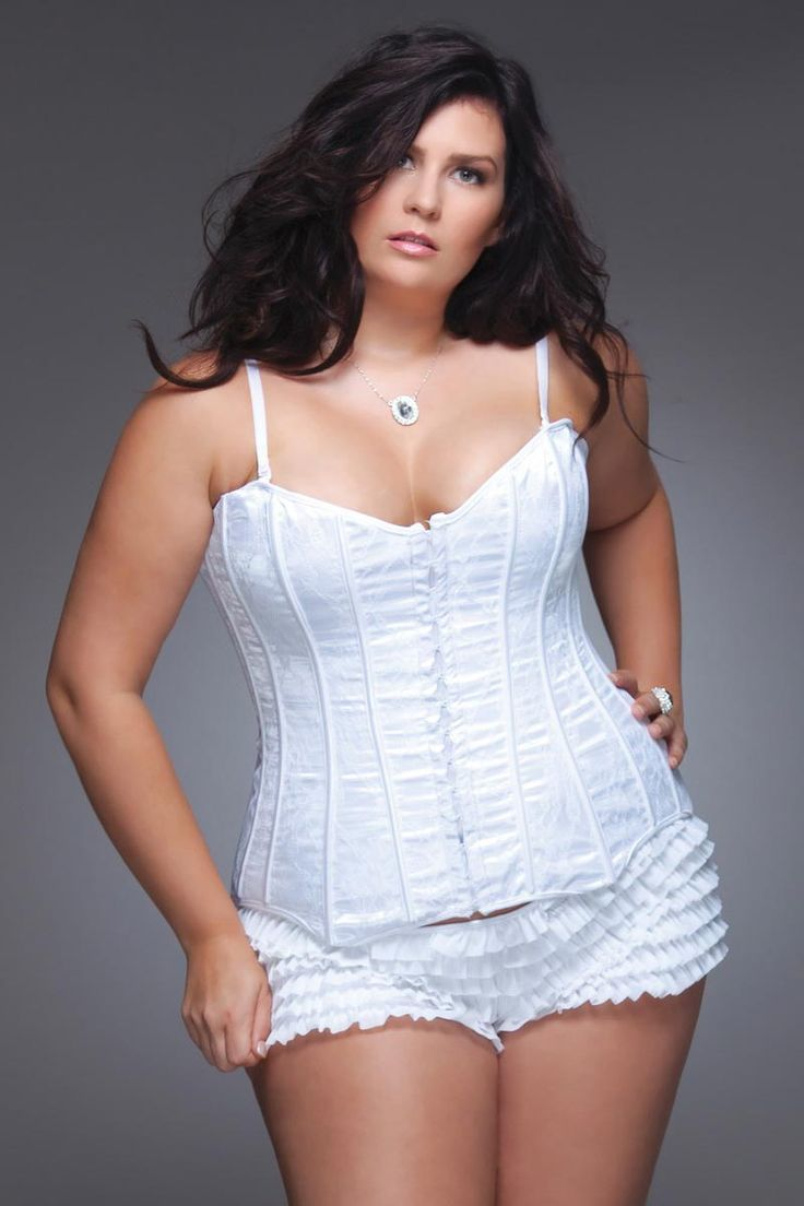 Plus Size Lingerie - Lace Over Satin Corset,  Go To www.likegossip.com to get more Gossip News!