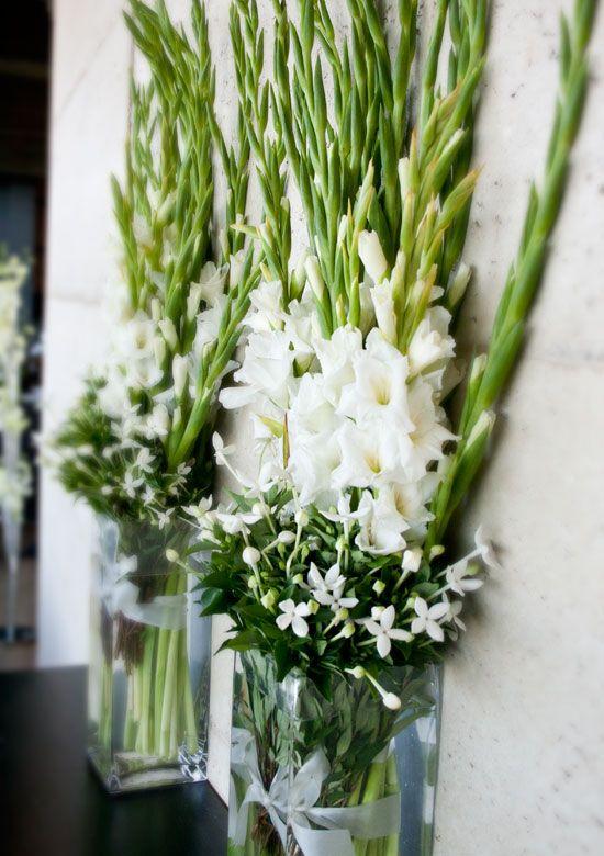 Gladiolus arrangement for entryways | Wedding | Pinterest