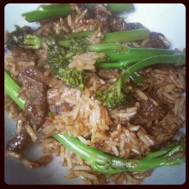 crispy beef & broccoli | Yummy Stuff | Pinterest