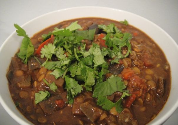 Lentil And Eggplant Chili Mole; Appetite For Reduction recipe #vegan # ...