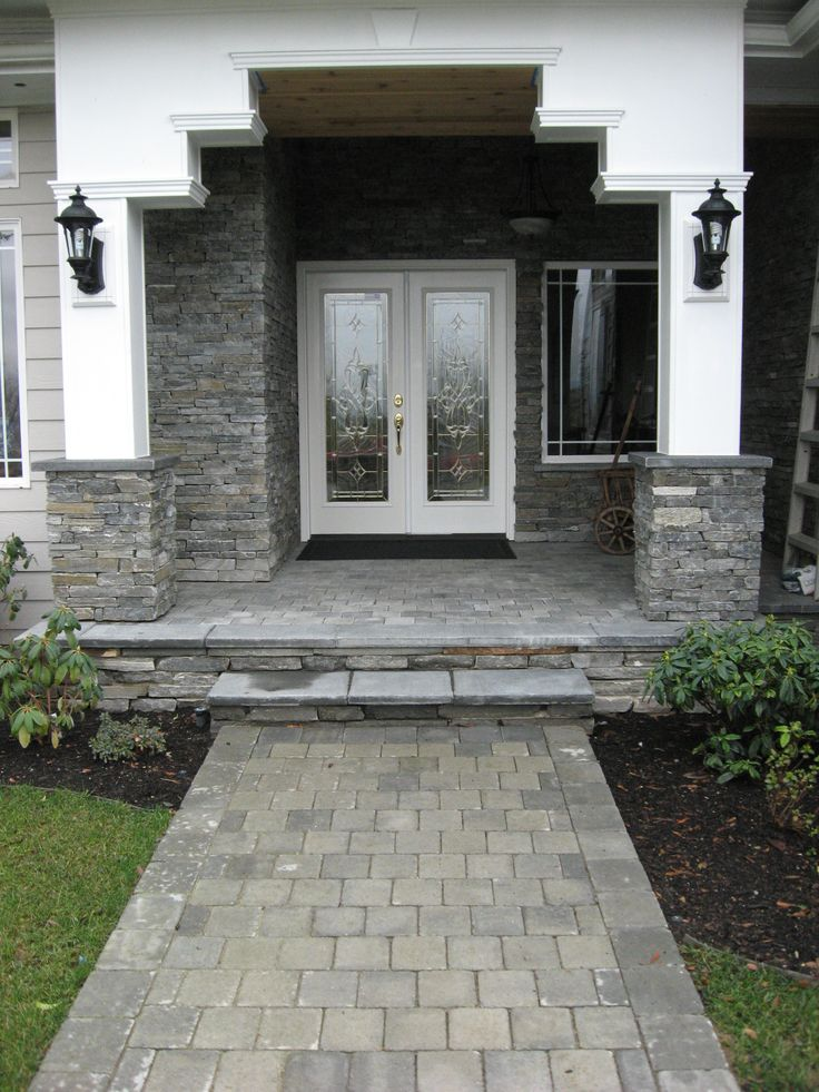 Stone facade house photos for builder pinterest Houses with stone facade