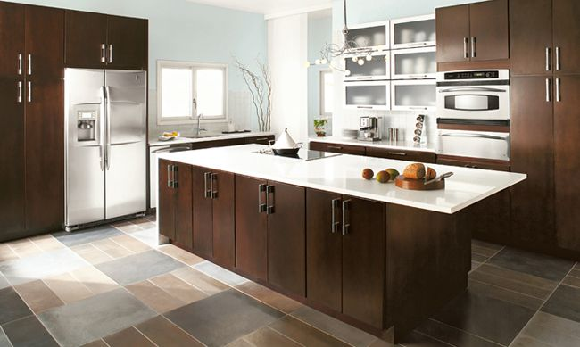 contemporary kitchen cabinet home depot kitchen pinterest