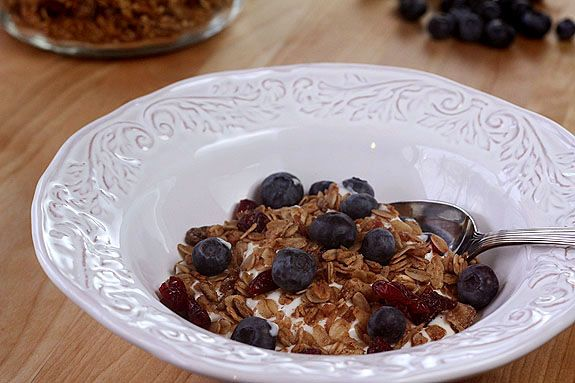 Homemade Maple Granola with Walnuts, Dates and Pomegranate infused Dr ...
