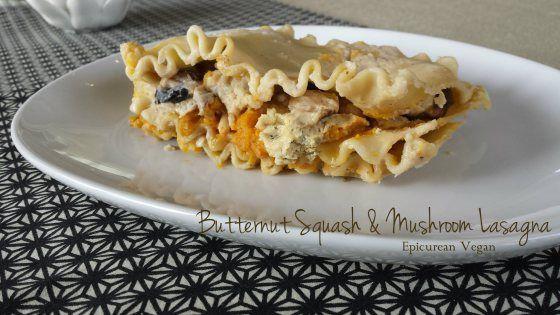 Butternut Squash and Mushroom Lasagna | Vegan Pasta | Pinterest