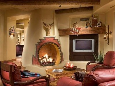 Kiva fireplace favorite living spaces pinterest for Fireplaces southwest