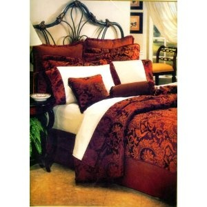 like red and gold as bedroom colors bedding pinterest