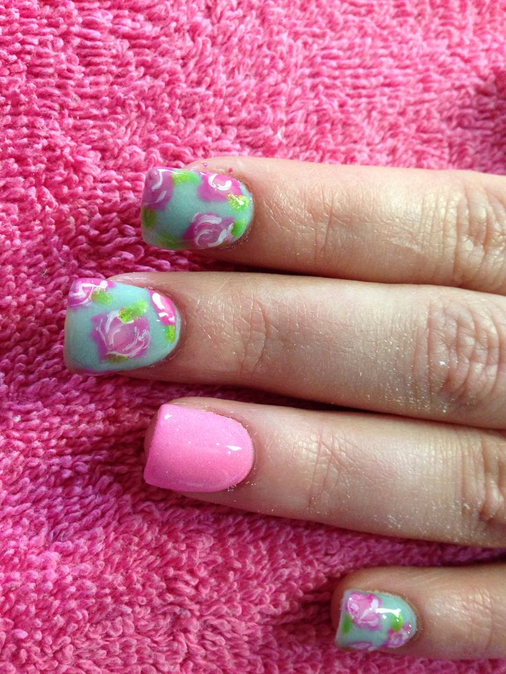 nails, hand painted nails, shellac nails, acrylic nails, vintage nails