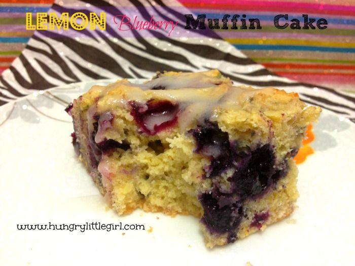 Lemon Blueberry Muffin Cake | July | Blueberry Month! | Pinterest