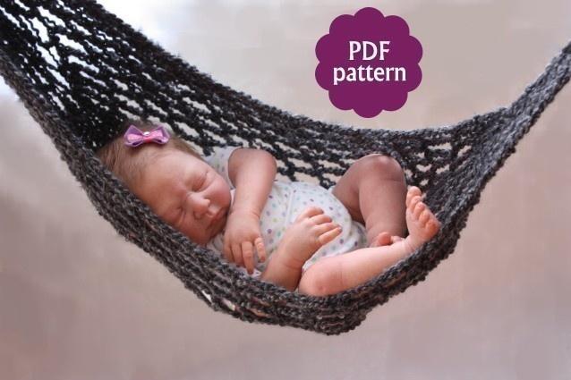 Crochet Pattern For Baby Hammock : Hammock Baby Photo Prop Crochet Pattern props to make ...