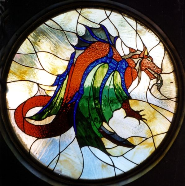 Dragons forever stained glass projects pinterest