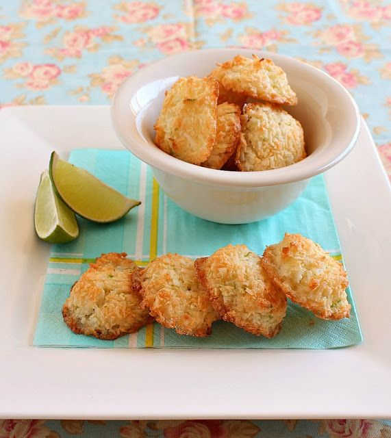 Coconut & Lime Macaroons | + sweets and treats | Pinterest