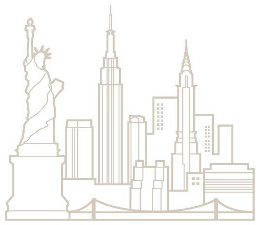 New York Skyline Wall Stencil