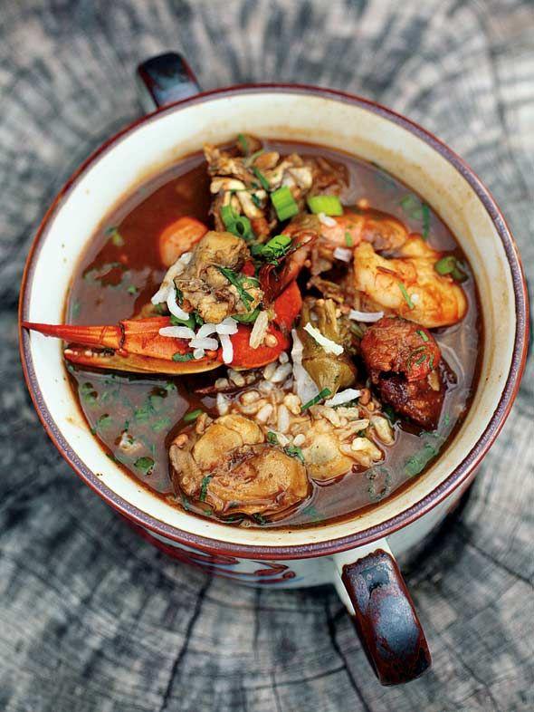 Super Bowl Sunday Seafood Gumbo #recipe #superbowl