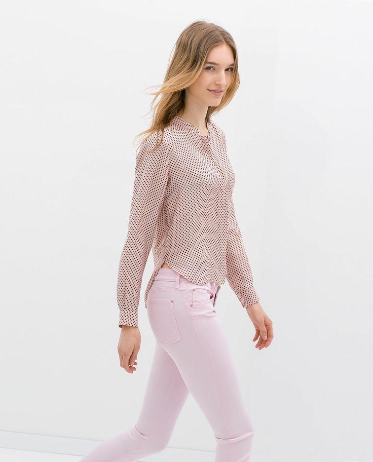 Zara Star Print Blouse 50