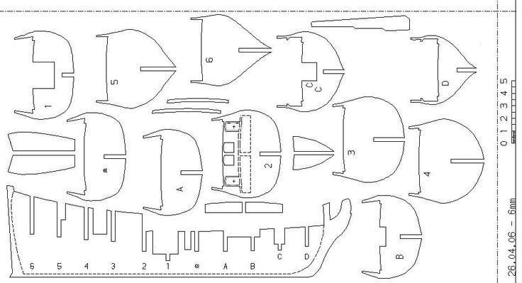 Макет корабля из фанеры своими руками 34