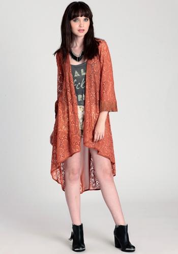 Lace Shadow Cardigan  price: $48.00