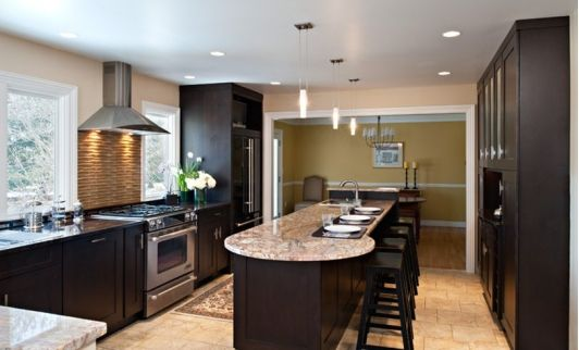 Large kitchen with island breakfast bar kitchen ideas pinterest