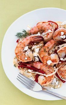 Shrimp with Fennel, Dill, and Feta | Recipe