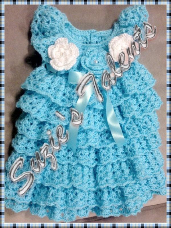 PATTERN PT060 - Crochet Baby Layers Dress, Baby Dress ...
