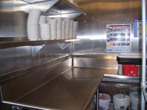 restaurant stainless steel backsplash commercial