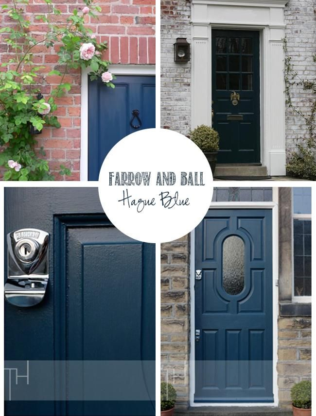 Getting my hague blue farrow ball on the door that is house projects pinterest - Farrow and ball hague blue ...