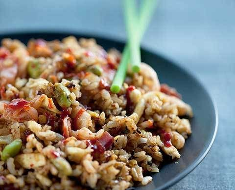 Bacon and egg kimchi fried rice | Food