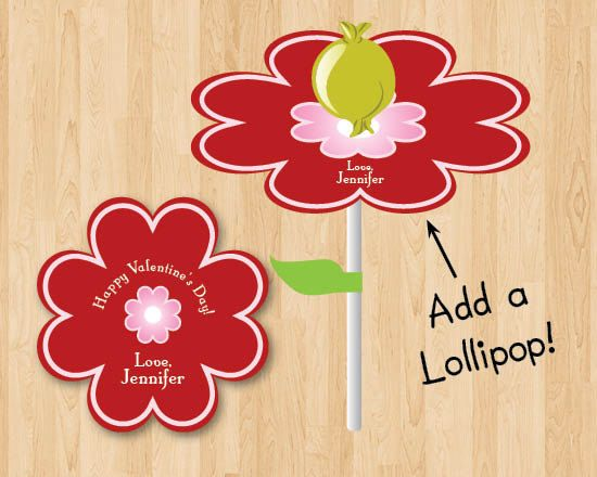 Print Out Lollipop Flower Valentine \u2013 Best Cars 2018