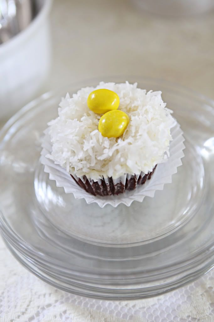"coconut ""nest"" cupcakes 