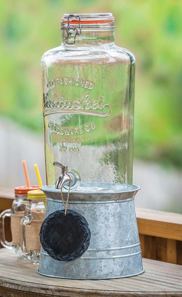 New Mason Jar 2 5 Gallon Beverage Server Drink Dispenser