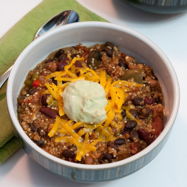 Quinoa Chili. Finally, something to put that box of quinoa to use for!