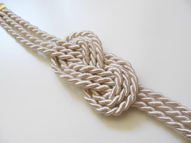 Sailor shower curtain - Nautical Rope Knot Tattoo Ivory Nautical Rope Bracelet