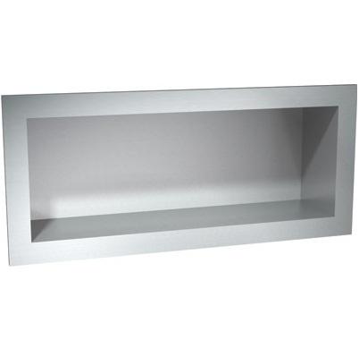 stainless steel recessed shelf shelfs shelving. Black Bedroom Furniture Sets. Home Design Ideas