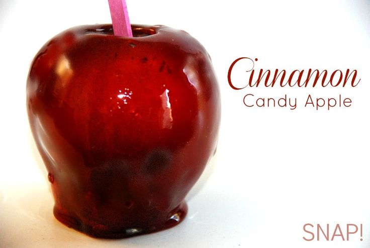 Cinnamon Candy Apple from @snapconf -- looks delicious!