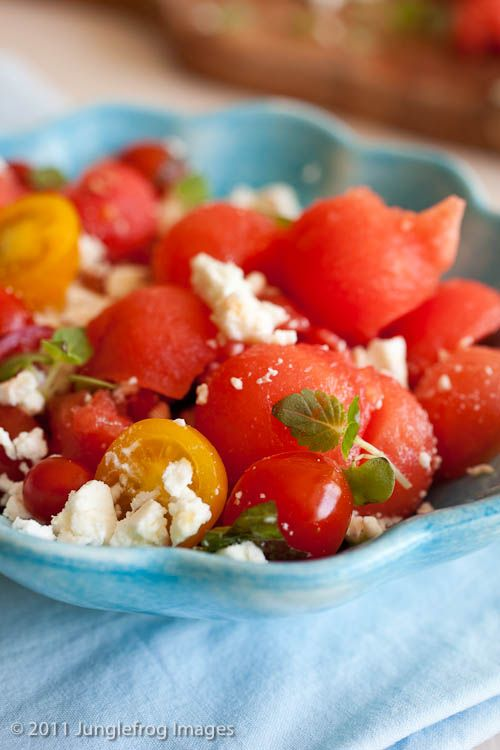 watermelon salad with feta amp mint i might like to try this with ...
