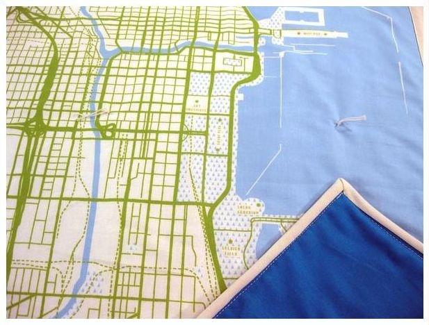 Chicago baby quilt  $145