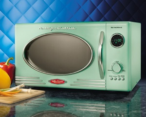 mint green retro small kitchen appliance design decor gift microwave