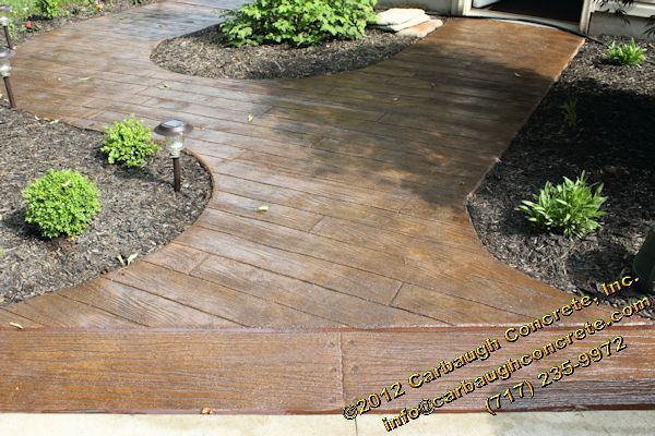 Stamped Concrete That Looks Like Wood Planks : Wood plank stamped concrete car interior design
