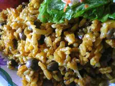 Rice with Pigeon Peas (Arroz con Gandules) is one of the ...